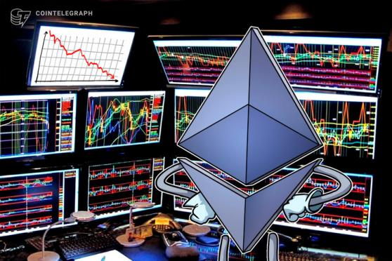 Ether price faces a potential 30% correction after failing to break $400
