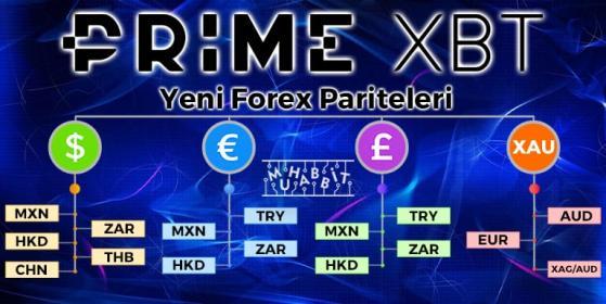 PrimeXBT Yeni Forex Paritelerini Ekledi!